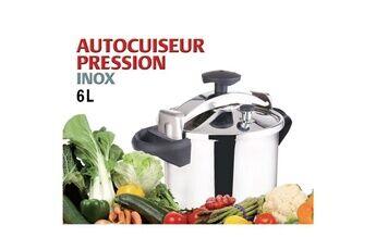 Marque Autocuiseur - cocotte minute  autocuiseur + panier vapeur - 6 l - gris et noir - tous feux dont induction