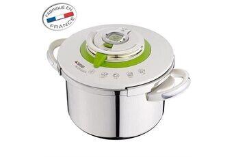 Icaverne Autocuiseur - cocotte minute autocuiseur nutricook - p4221403 - 8l - tous feux dont induction - inox - blanc