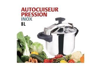 Icaverne Autocuiseur - cocotte minute autocuiseur + panier vapeur - 8 l - gris et noir - tous feux dont induction