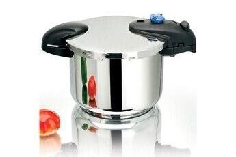Kitchen Move Autocuiseur cocotte minute à baïonnette ø24cm 8l illico en acier inox avec panier cuisson