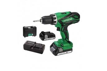 Hitachi Power Tools Hitachi perceuse visseuse ds18djl wc avec 2 batteries 18 v 1,5 ah li-ion et coffret