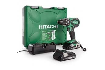 Hitachi Power Tools Hitachi perceuse visseuse a percussion brushless dv18dbfl2 70 nm avec 2 batteries 18v 3ah li-ion