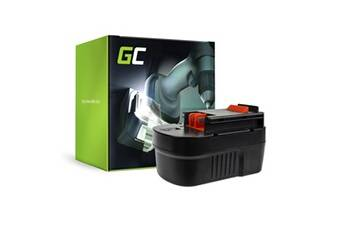 Green cell® batterie pour outillage électroportatif black & decker firestorm fsd142k-2 ( ni-mh cellules 3000mah 14.4v )