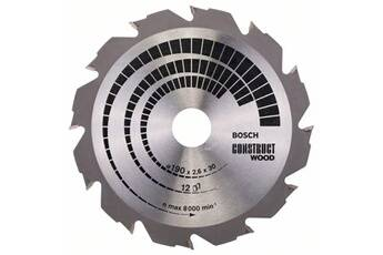 Bosch Lame de scie circulaire construct wood ø190mm - 12 dents carbures - coupe de 2.6mm bosch 2608640633