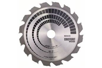 Bosch Lame de scie circulaire construct wood ø235mm - 16 dents carbures - coupe de 2.8mm bosch 2608640636