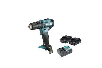 Makita Perceuse visseuse à percussion makita 12v cxt - 2 batteries bl1021b 2.0ah - 1 chargeur dc10wd hp333dwae