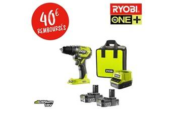 Ryobi Tools Perceuse-visseuse à percussion brushless e-torque 18v one+ - batteries lithium+ 2x 2,0 ah r18pd5-220s ryobi