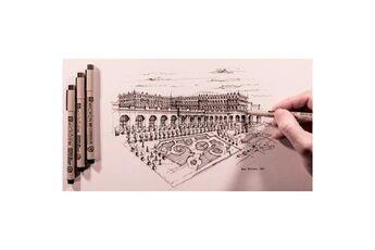 sakura     sakura stylo feutre pigma micron 05, étui de 9     noir