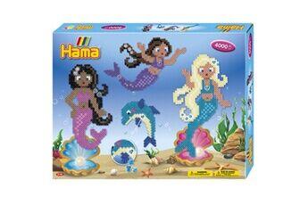 hama     hama perles à repasser midi sirènes, coffret cadeau     noir