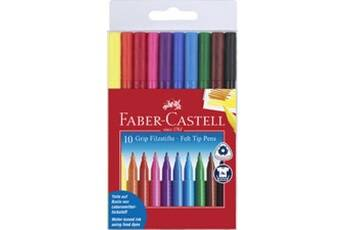 faber castell faber-castell     faber-castell stylo feutre grip colour marker, étui de 30     noir
