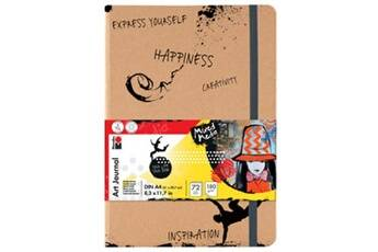 marabu     marabu carnet de notes art journal, format a4, 180 g/m2, 1     noir