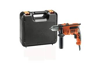 Black and decker - perceuse à percussion filaire 710 w 20.5 nm 47600 cps/min avec coffret - kr714cresk-qs