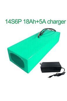 Batterie 18ah 52v Li-ion Pour E-bike   Avec Chargeur 5a Batterie 18ah 52v  18650 li-ion pour e-bike  vélo électrique  14s6p  270 * 115 * 70mm avec chargeur 5a