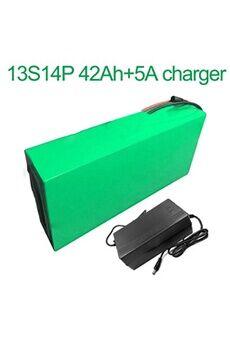 Batterie 42ah 48v  Li-ion Pour E-bike Avec Chargeur 5a Batterie 42ah 48v 18650 li-ion pour e-bike vélo électrique 13s14p  330x210x70mm avec chargeur 5a