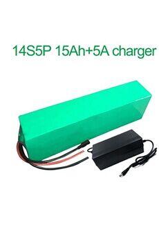 Batterie 15ah 52v  Li-ion Pour  E-bike   Avec Chargeur 5a Batterie 15ah 52v 18650 li-ion pour  e-bike  vélo électrique 14s5p  280 * 100 * 70mm avec chargeur 5a