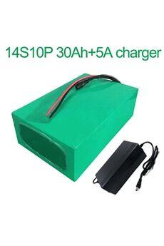 Batterie 30ah 52v  Li-ion Pour Vélo Electrique A Deux Roues Moto  Avec Chargeur 5a Batterie 30ah 52v 18650 li-ion pour vélo électrique à deux roues moto 14s10p 270 * 195 * 70mm avec chargeur 5a