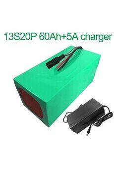 Batterie 60ah 48v  Li-ion Pour  E-bike  Avec Chargeur 5a Batterie 60ah 48v 18650 li-ion pour  e-bike vélo électrique 13s20p  255x200x140mm avec chargeur 5a