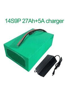 Batterie 27ah 52v  Li-ion Pour Deux Moto  Avec Chargeur 5a Batterie 27ah 52v 18650 li-ion pour deux moto à trois roues vélo électrique 14s9p 270 * 195 * 70mm avec chargeur 5a