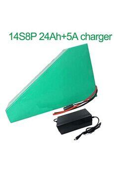 Batterie 24ah 52v  Li-ion Pour  E-bike  Avec Chargeur 5a Batterie 24ah 52v 18650 li-ion pour  e-bike  vélo électrique 14s8p 265 * 250 * 180 * 70 * 70 * 45mm avec chargeur 5a