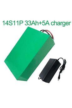 Batterie 33ah 52v  Li-ion Pour Vélo Electrique A Deux Roues Moto  Avec Chargeur 5a Batterie 33ah 52v 18650 li-ion pour vélo électrique à deux roues moto 14s11p 275 * 215 * 70mm avec chargeur 5abatterie 33ah 52v 18650 li-ion pour vélo