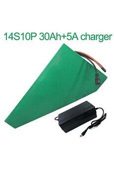 Batterie 30ah 52v  Li-ion Pour Vélo Electrique A Deux Roues Moto  Avec Chargeur 5a Batterie 30ah 52v 18650 li-ion pour vélo électrique à deux roues moto 14s10p 330 * 310 * 200 * 70 * 70 * 45mm avec chargeur 5a