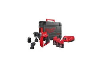 Milwaukee Perceuse visseuse milwaukee m12 fuel à mandrin amovible m12 fddxkit-203x - 3 batteries 12v 2,0ah - 1 chargeur - 4933478525