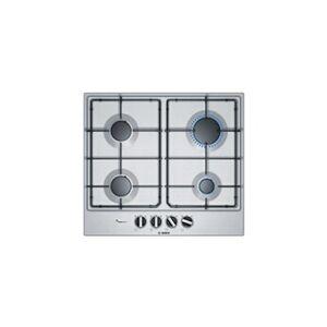 Bosch pcp6a5b80 table de cuisson gaz - 4 foyers - 7500 w - l 58,2 x p 52 cm - revetement acier inox - inox