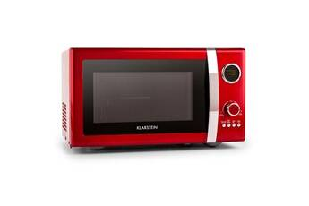 klarstein fine dinesty four micro-onde multifonction 23 litres 800w / grill 1000w  - look rétro rouge