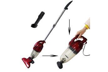 storaddict balai éléctrique, aspirateur 2 en 1  balai et à main, rouge, capacité du bac à poussière:  1,3l