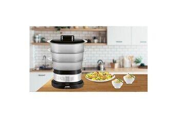 Marque Cuit vapeur vc 138800 - cuiseur vapeur compact - idéal pour 2 personnes - 2200w noir et inox