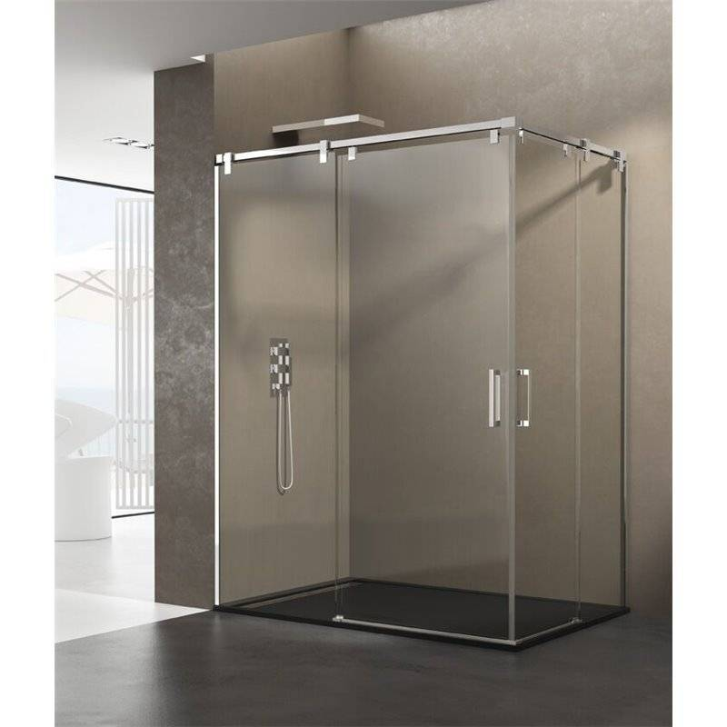 GME® - Pare-douche d'angle 2 portes coulissantes FUTURA GME