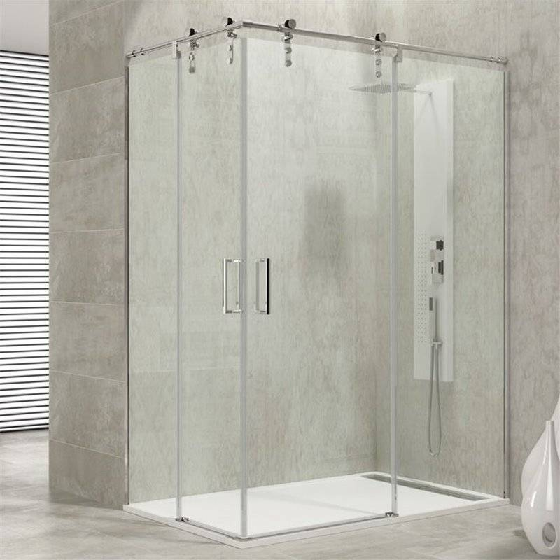 GME® - Pare-douche d'angle 2 portes coulissantes MOVING GME