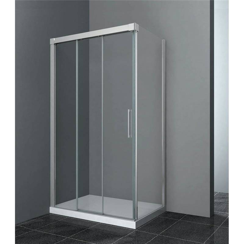 GME® - Pare-douche d'angle 2 portes coulissantes TRIO GME