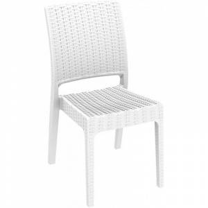 Resol - Lot de 4 chaises blanches Floride Indienne Resol