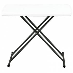 Resol - Table pliable noire et blanche EASY 75 de Resol