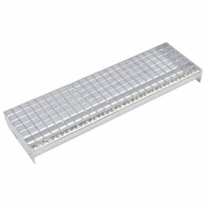 Vidaxl marches d'escalier 4 pcs acier galvanisé pressé 800x240 mm Outils Échelles & échafaudages - Publicité