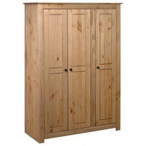 Vidaxl garde-robe à 3 portes 118x50x171,5 cm pin assortiment panama Armoires & meubles de rangement Armoires - Publicité