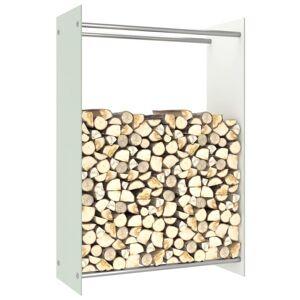Vidaxl portant de bois de chauffage blanc 80x35x120 cm verre Accessoires pour cheminées & poêles à bois Sacs & paniers à bûches - Publicité