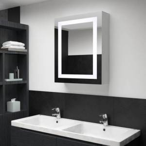 Vidaxl armoire de salle de bain à miroir led 50x13x70 cm Outils Échelles & échafaudages - Publicité