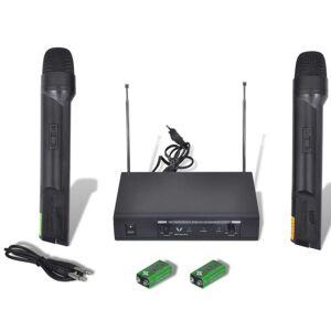 Vidaxl récepteur avec 2 microphones sans fil vhf Matériaux de construction Boutons & poignées de porte - Publicité