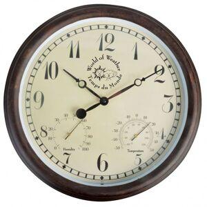 Esschert design horloge de station avec thermo-hygromètre 30,5cm tf008 Décorations Horloges - Publicité
