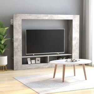 Vidaxl meuble tv gris béton 152x22x113 cm aggloméré Meubles tv Meubles tv - Publicité