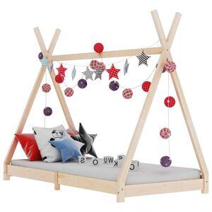 Vidaxl cadre de lit d'enfant bois de pin massif 80x160 cm Mobilier pour bébés & tout-petits Lits bébés et enfants - Publicité
