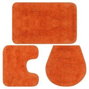 Vidaxl jeu de tapis de salle de bain 3 pcs tissu orange Clôtures & barrières Murets & bordures de jardin - Publicité