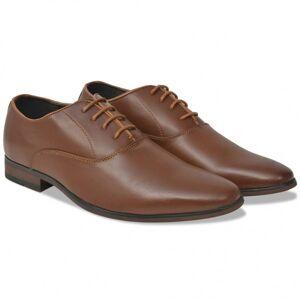 Vidaxl chaussures à lacets pour hommes marron pointure 43 cuir pu Chaussures Chaussures - Publicité