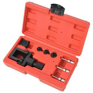 Vidaxl kit de disjoncteur et de rivetage de chaîne moto 8 pcs Equipement & outils de garage Outils à main - Publicité