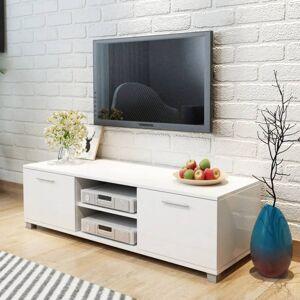 Vidaxl meuble tv à haute brillance blanc 120 x 40,3 x 34,7 cm Meubles tv Meubles tv - Publicité