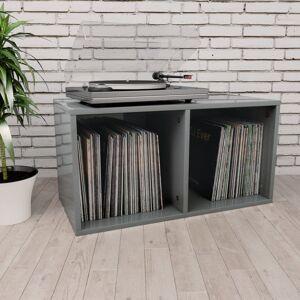 Vidaxl boîte de rangement de vinyles gris brillant 71x34x36 cm Armoires & meubles de rangement Fixations & meubles de rangement multimédia - Publicité