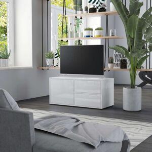 Vidaxl meuble tv blanc brillant 80x34x36 cm aggloméré Meubles tv Meubles tv - Publicité