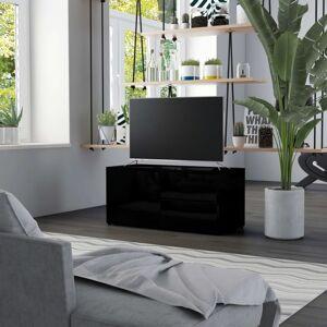 Vidaxl meuble tv noir brillant 80x34x36 cm aggloméré Meubles tv Meubles tv - Publicité